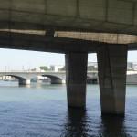 Les piliers soutenant le pont National