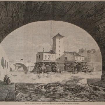 La pompe du Pont Notre Dame en 1857