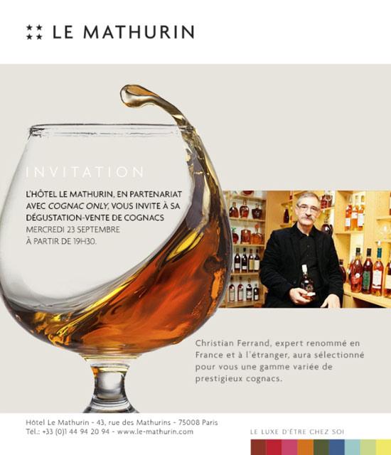 Invitation pour l'événement Cognac Only