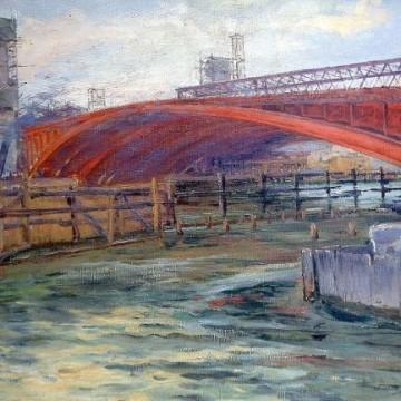 La construction du pont Alexandre III par Georges Souillet