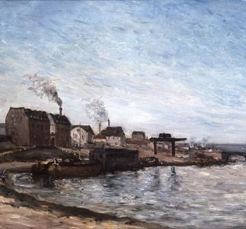 Le pont en 1875 par Paul Gaugin